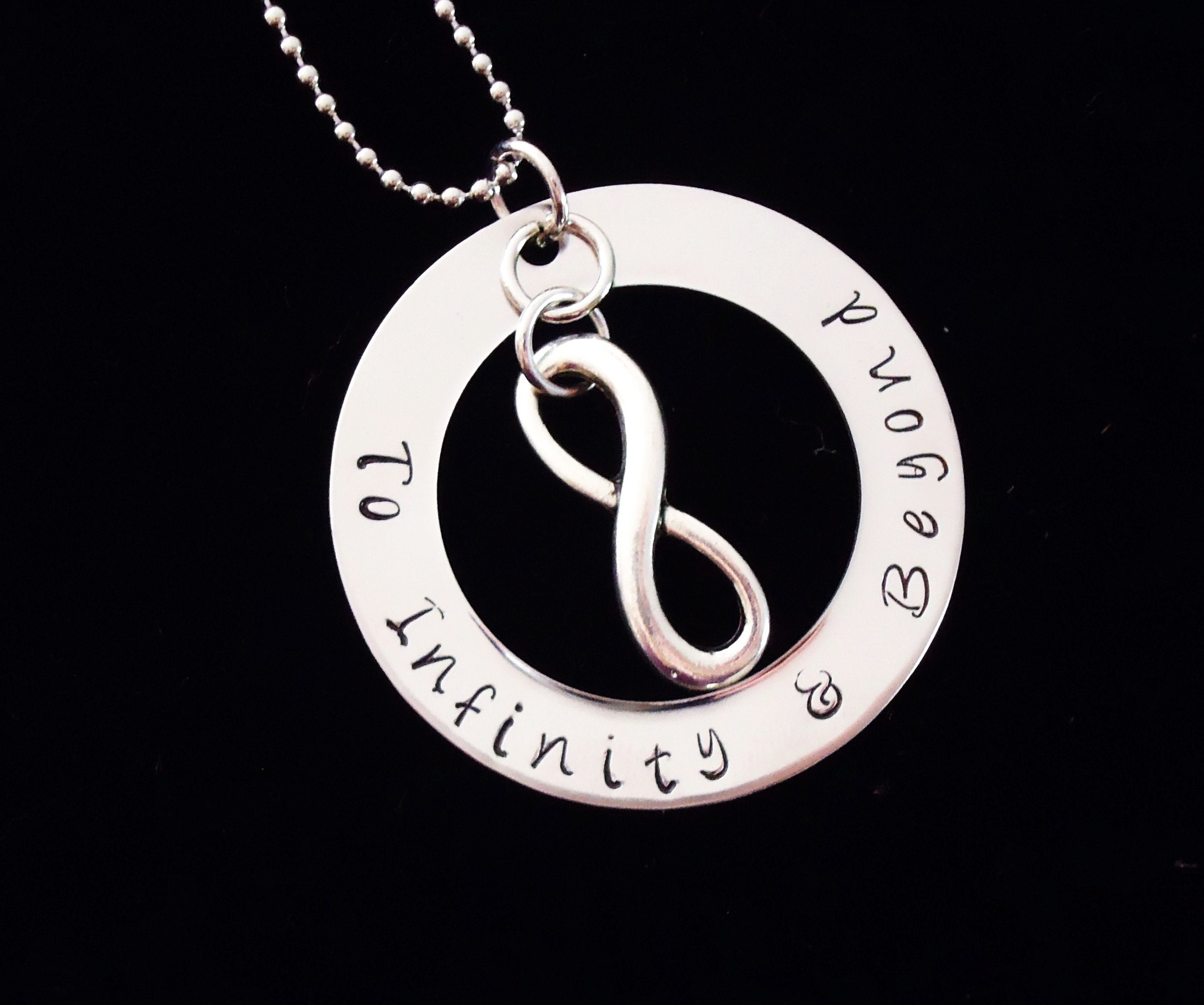 product personalized with necklace disc mothers sterling hand silver two initial stamped pendant