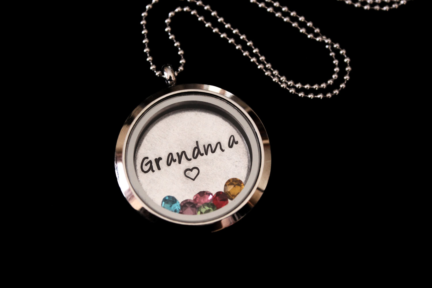 addiction birthstone personalized grandma silver lockets infinity sterling custom eve s necklace stone