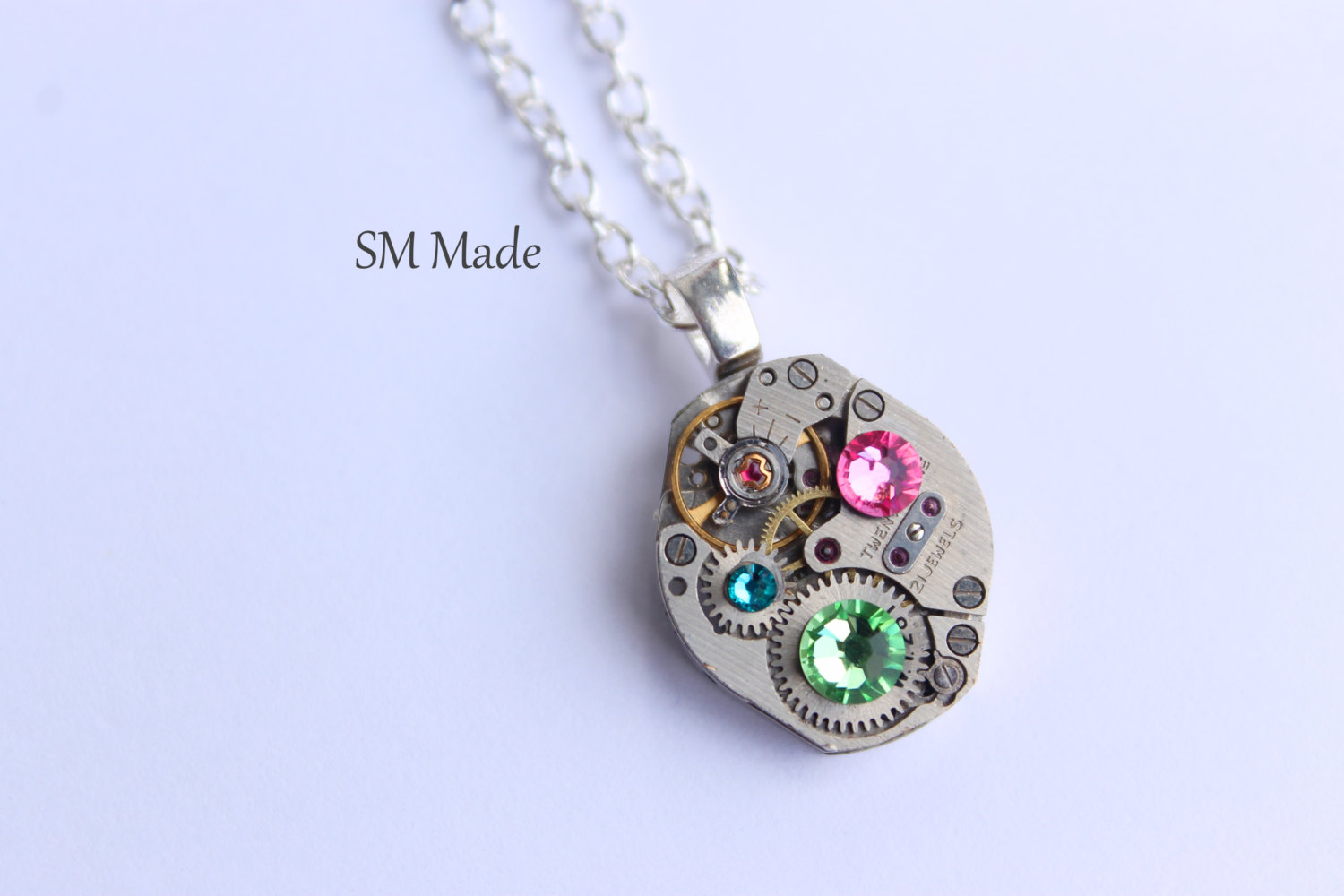 hand shop necklace heartfelt stamped mothers day domed tokens necklaces jewellery personalized mom jewelry gift for