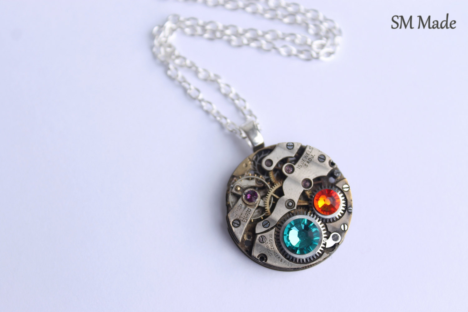 hammered mother with jewelry necklace child accents circle mothers silver jewellery birthstone and