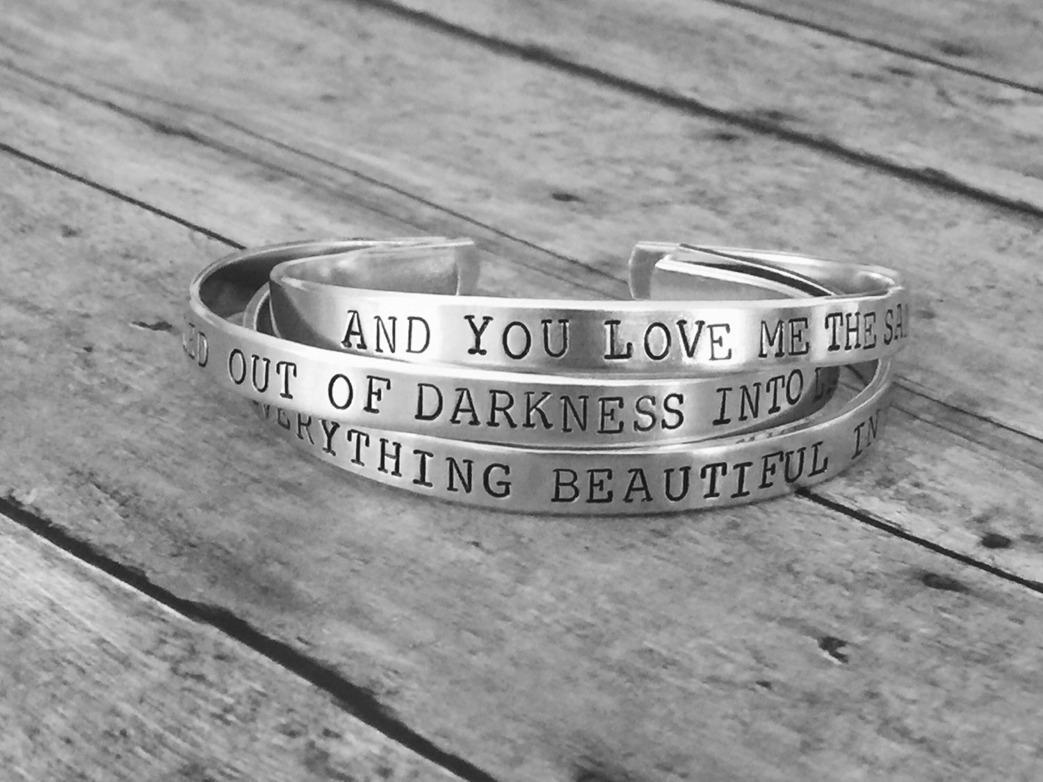 jewelry mantra silver new pcs babies for engraved stamped stainless bracelet bangle steel words cuff product arrival bangles sale from hot hand open