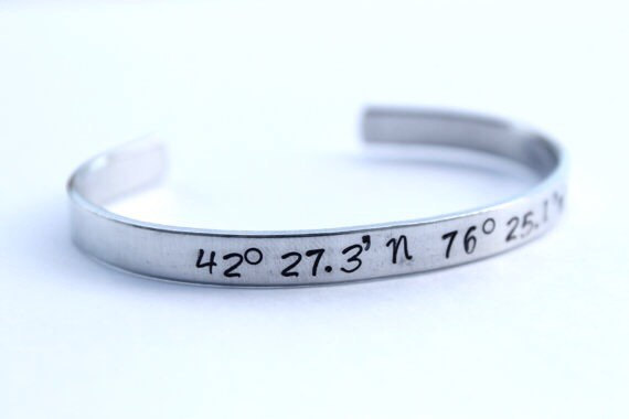latitude coordinates is itm bracelet image loading personalized longitude s personalised