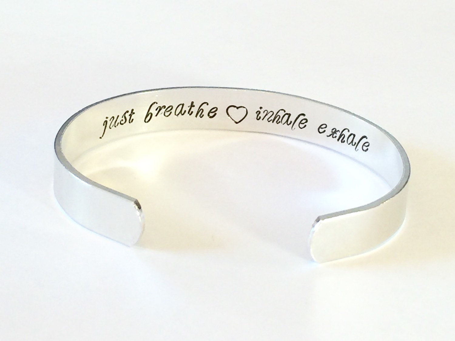 from personalized steel name bracelet aliexpress polished message breathe stainless buy product custom store mantra silver cuff inspirational com bangle