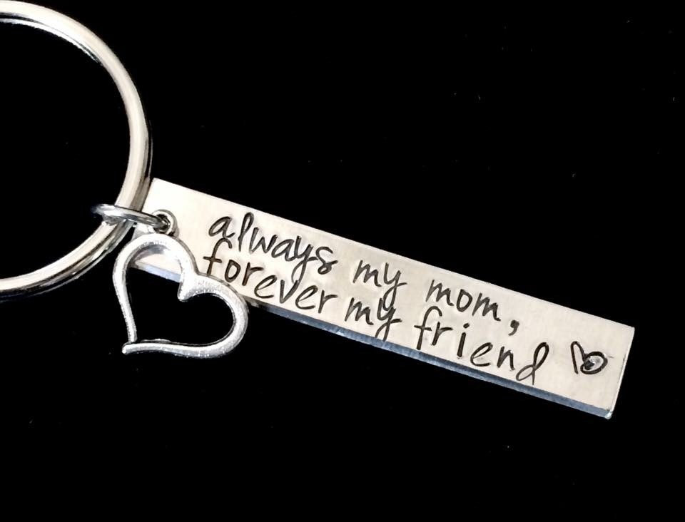 """Mother/'s Day Gift /""""Always My Mom Forever My Friend/"""" Heart Pendant Necklace"""