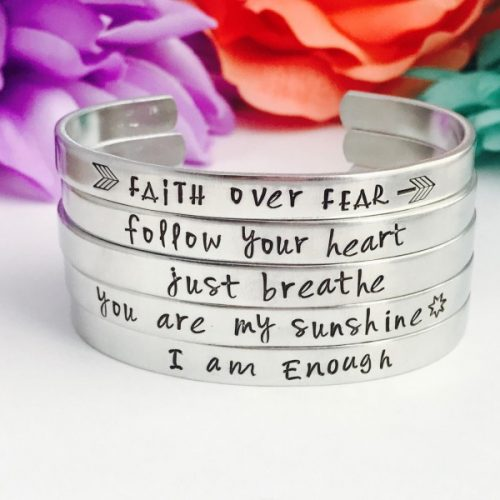Hand Stamped Cuffed Bracelets
