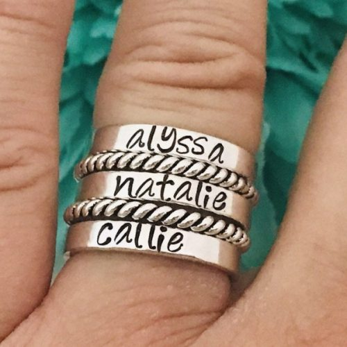 stacking rings aluminum ( open back)